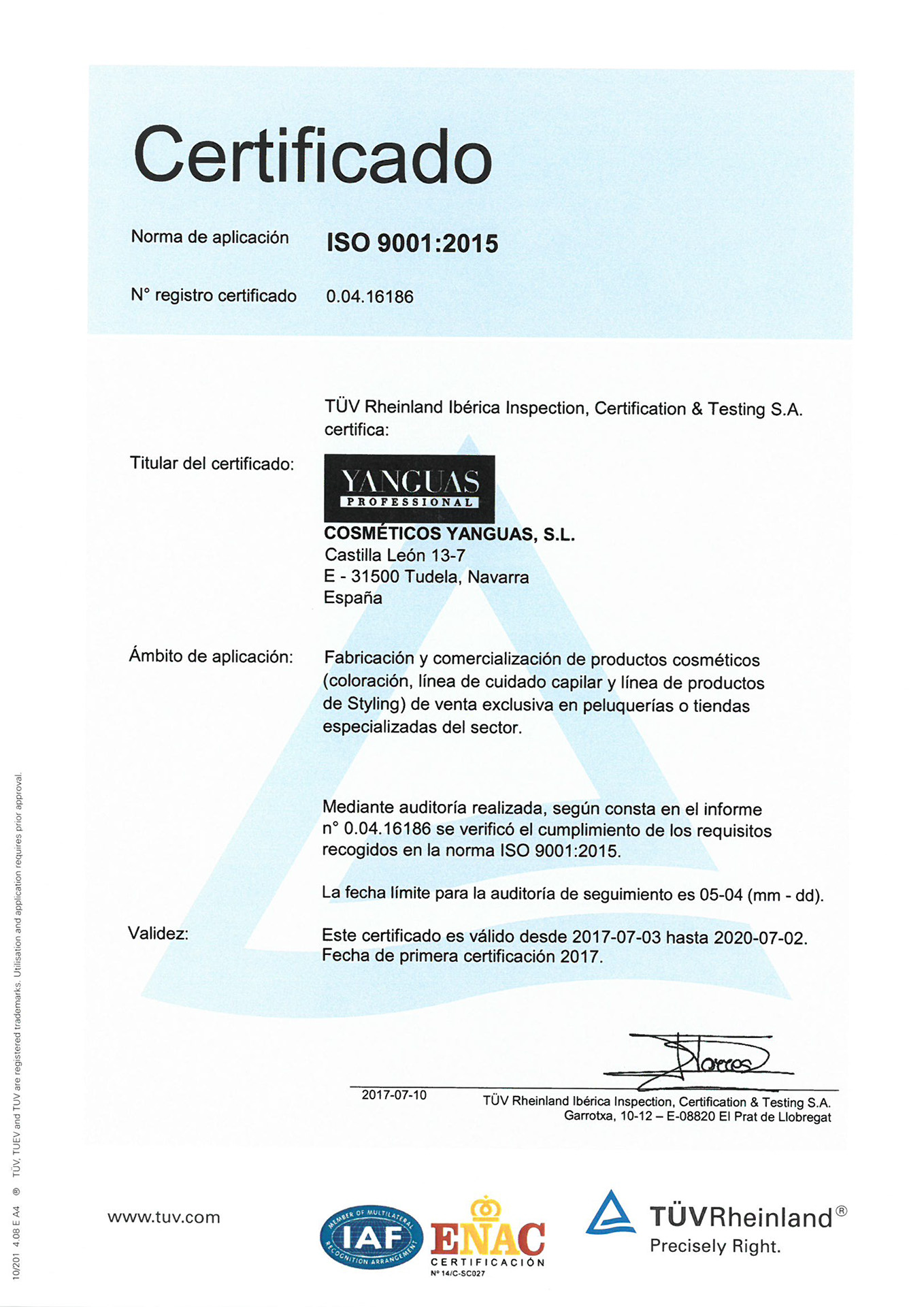 ISO 9001 : 14001