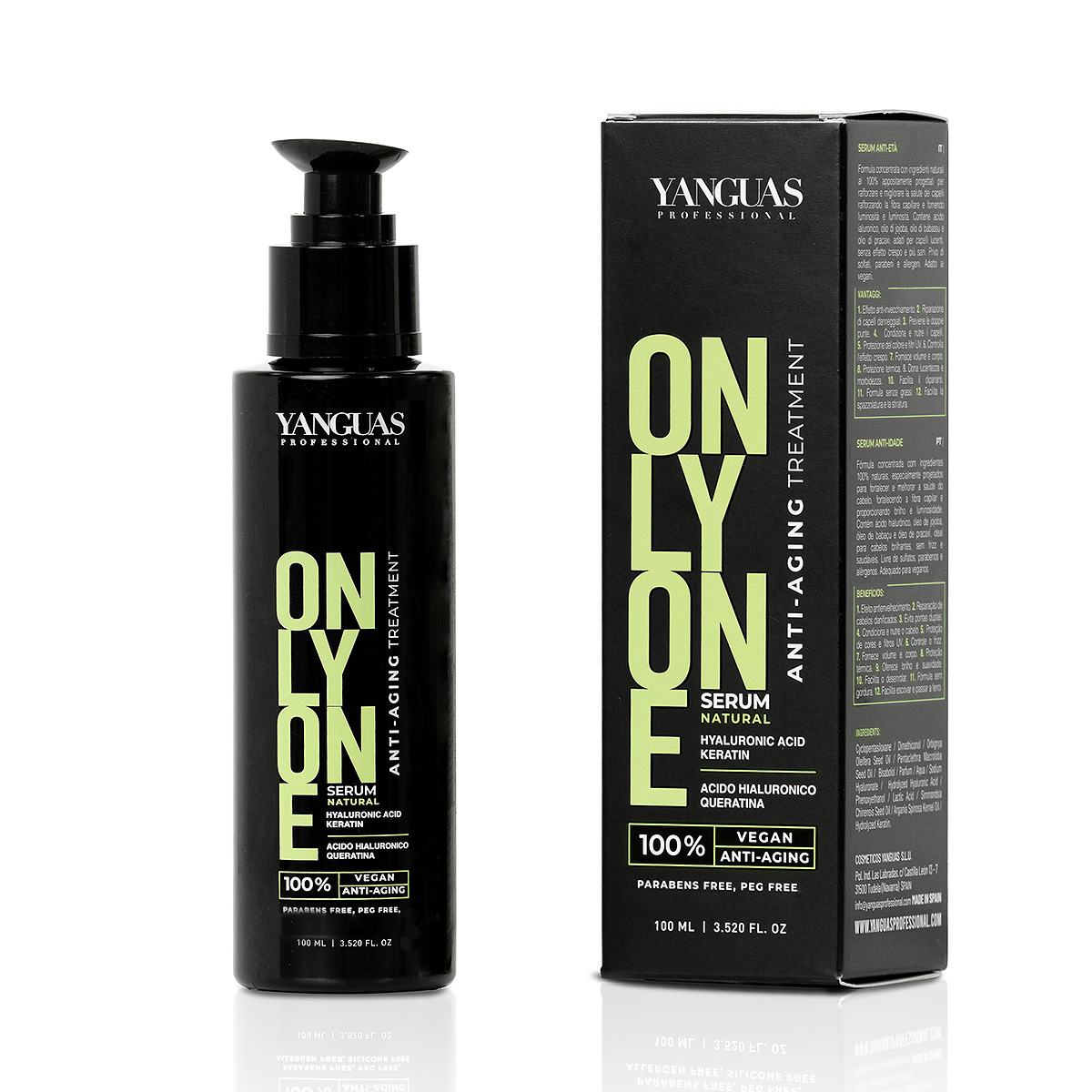 Serum Vegano Only One 100 Ml – Yanguas Professional