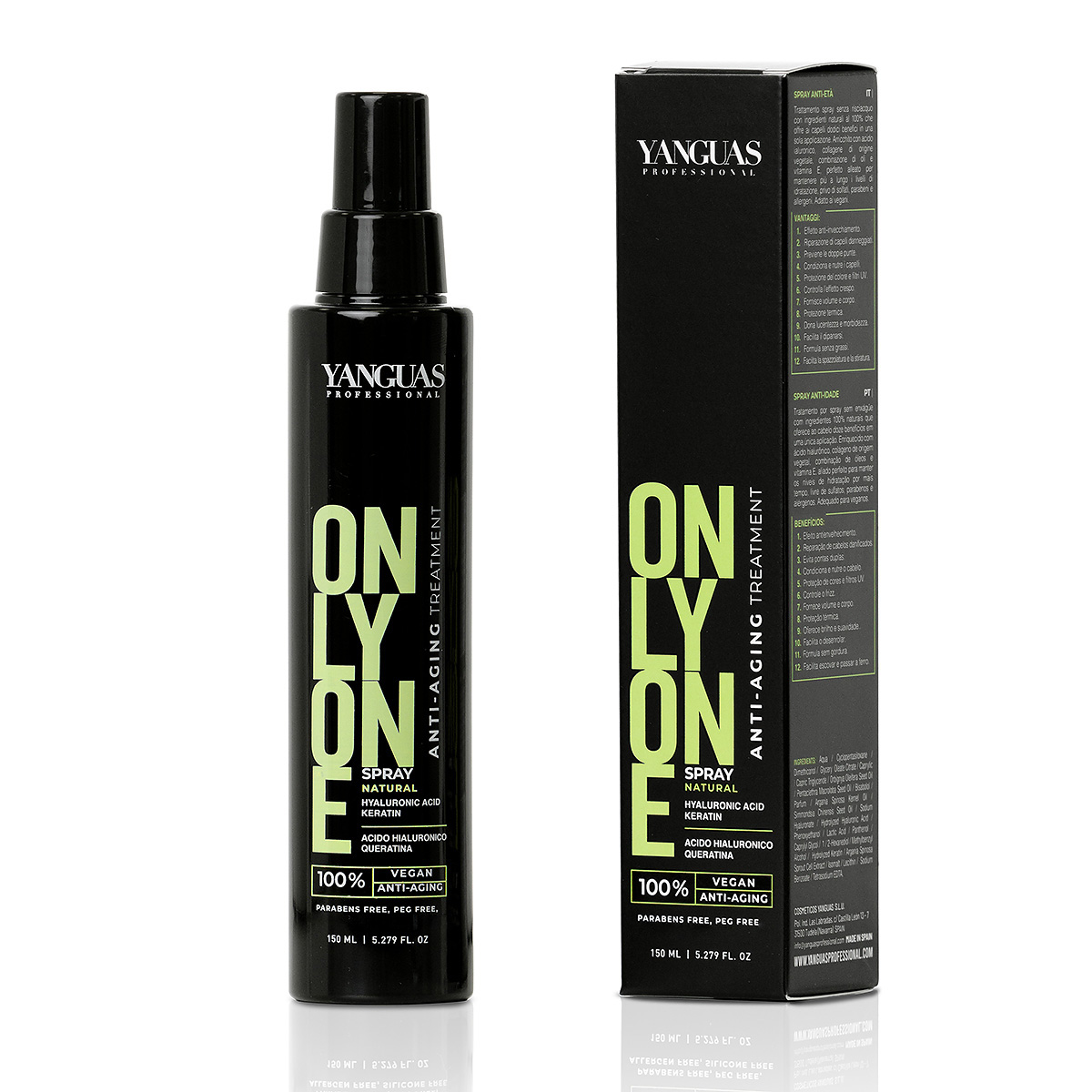Spray Vegano Only One 150 Ml – Yanguas Professional